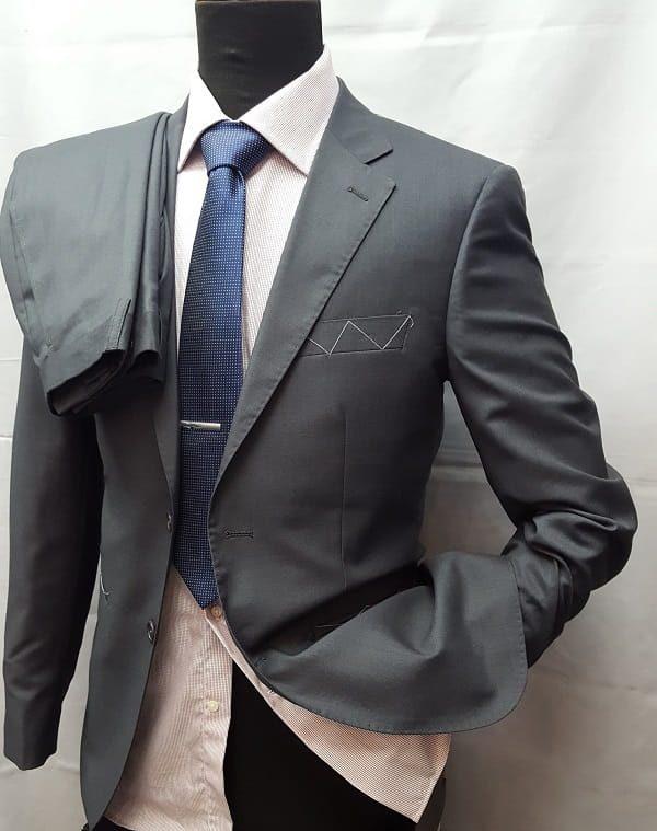 Factory Basic abito tinta unita grigio2 ott