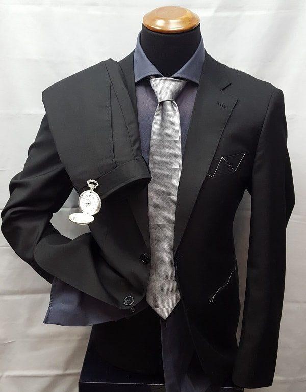 abito da uomo in tessuto pettinato
