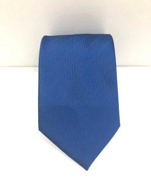 Cravatta Artigianale Pura Seta Blu Royal