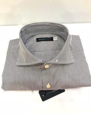 Camicia Da Uomo Cotone Bastoncino Marrone