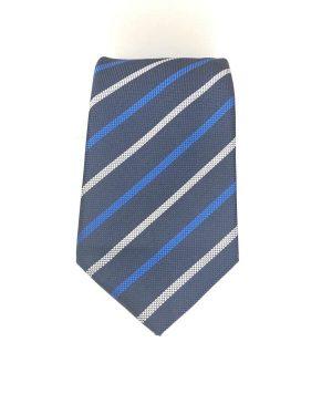 Cravatta Artigianale Regimental Pura Seta Blu