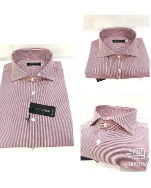 Camicia Da Uomo Cotone Bastoncino Rosso