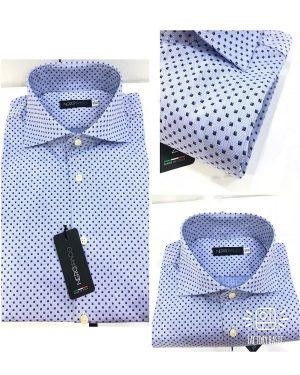 Camicia Uomo Cotone Micro-Fantasia Rombo