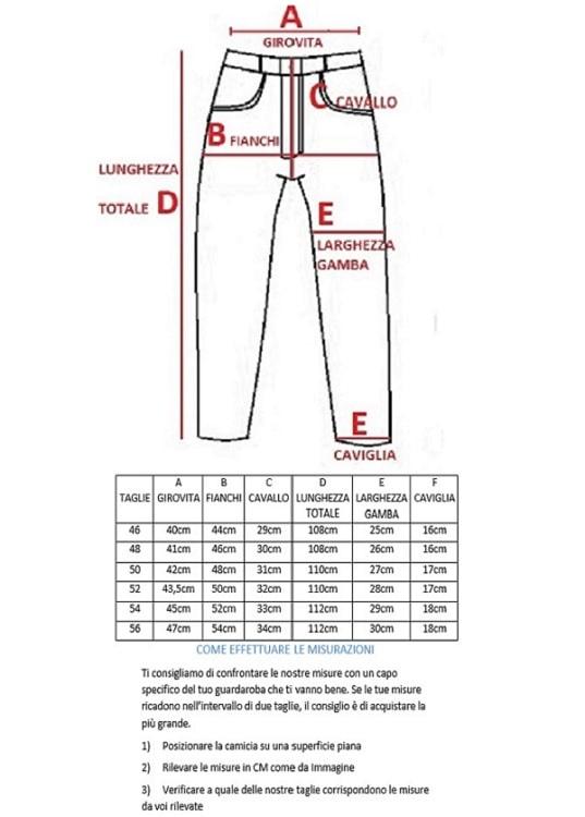 Pantaloni Classici Tasca America Caldo Cotone LA CORTE