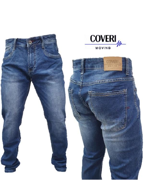 Jeans Uomo 5 Tasche Slim Fit Denim Scuro Sportivo Tinta Unita Semplice Elasticizzato Pantalone Coveri
